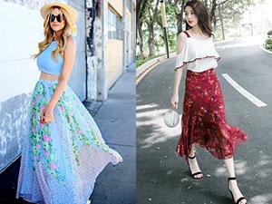 半身雪纺长裙怎么搭配 4种仙气搭配让你秒变甜美小仙女